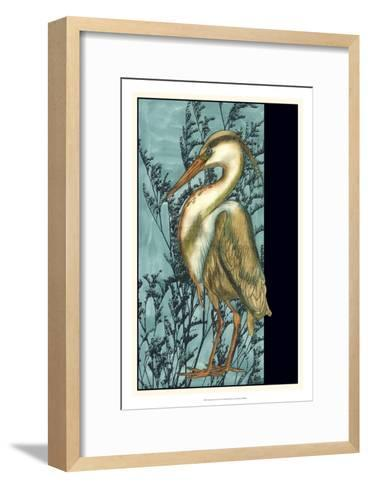 Heron in the Grass II-Jennifer Goldberger-Framed Art Print
