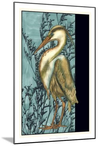 Heron in the Grass II-Jennifer Goldberger-Mounted Art Print