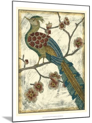 Embroidered Pheasant II-Chariklia Zarris-Mounted Art Print