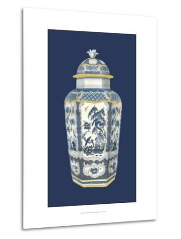 Asian Urn in Blue and White II-Vision Studio-Metal Print