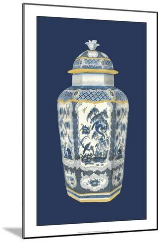 Asian Urn in Blue and White II-Vision Studio-Mounted Art Print