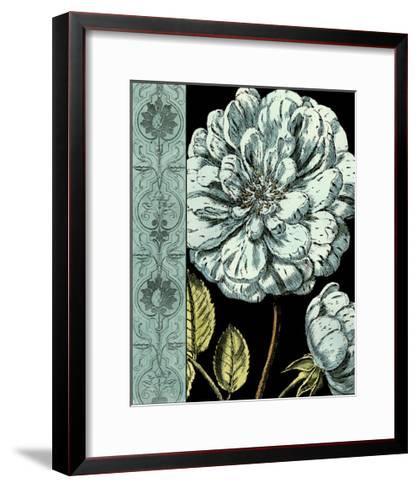 Nouveau Floral in Blue III-Vision Studio-Framed Art Print