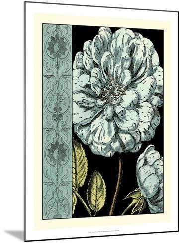 Nouveau Floral in Blue III-Vision Studio-Mounted Art Print