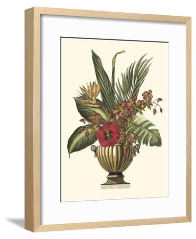 Tropical Foliage in Urn I-Vision Studio-Framed Art Print