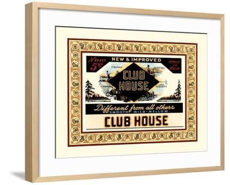 Clubhouse Cigars-Vision Studio-Framed Art Print