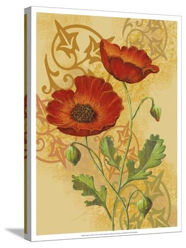 Poppies on Gold I-Louise Max-Stretched Canvas Print