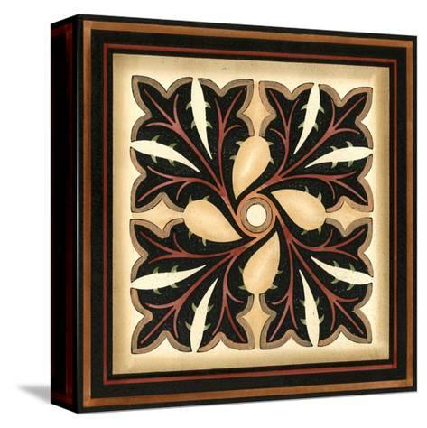 Crackled Square Wood Block V-Vision Studio-Stretched Canvas Print