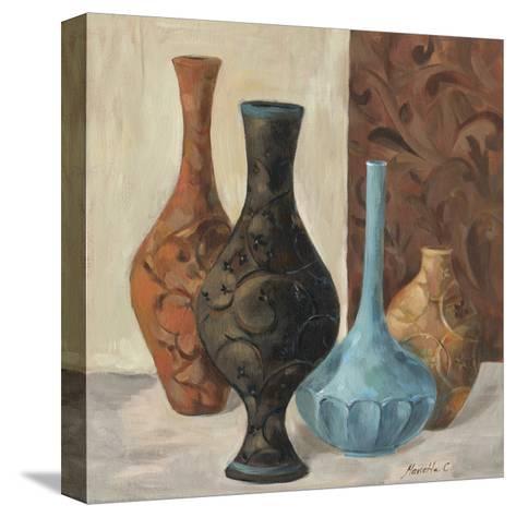 Spa Vases II-Marietta Cohen-Stretched Canvas Print