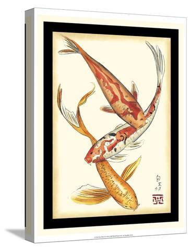 Koi Fish II-Chariklia Zarris-Stretched Canvas Print