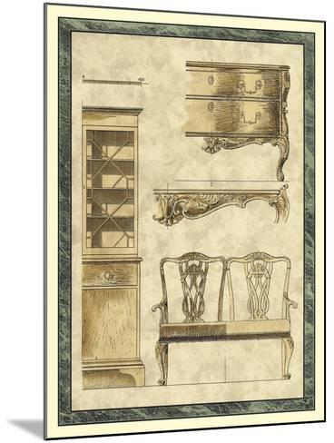 Chippendale Furniture I-Vision Studio-Mounted Art Print