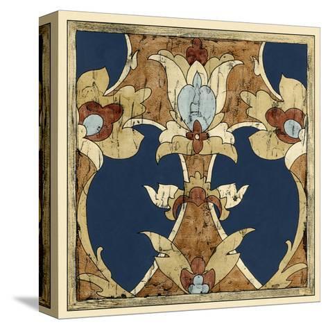 Vintage Woodblock IV-Chariklia Zarris-Stretched Canvas Print