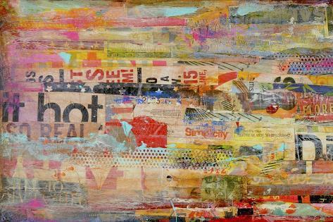 Metro Mix I-Erin Ashley-Stretched Canvas Print