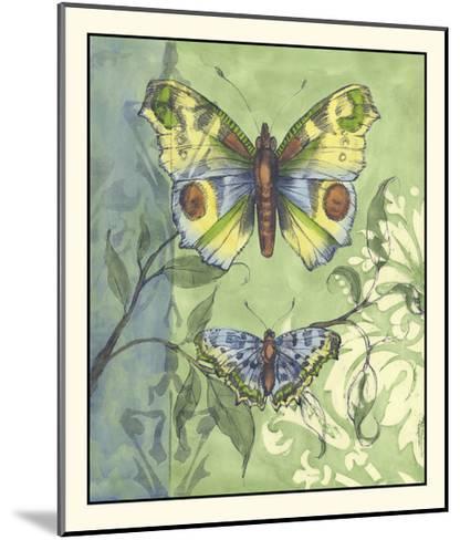 Embellished Vibrant Butterflies I-Jennifer Goldberger-Mounted Art Print