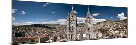 Panoramic View of the Bell Towers at the National Basilica, Quito, Ecuador-Brent Bergherm-Mounted Photographic Print