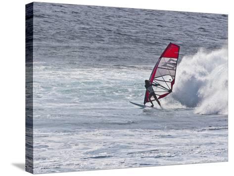 Windsurfer, Hookipa Beach Park, Maui, Hawaii, USA-Cathy & Gordon Illg-Stretched Canvas Print