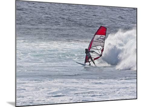 Windsurfer, Hookipa Beach Park, Maui, Hawaii, USA-Cathy & Gordon Illg-Mounted Photographic Print