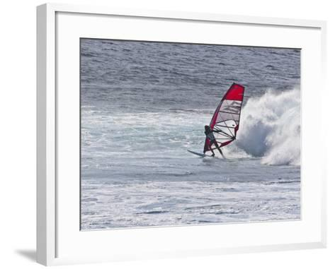 Windsurfer, Hookipa Beach Park, Maui, Hawaii, USA-Cathy & Gordon Illg-Framed Art Print