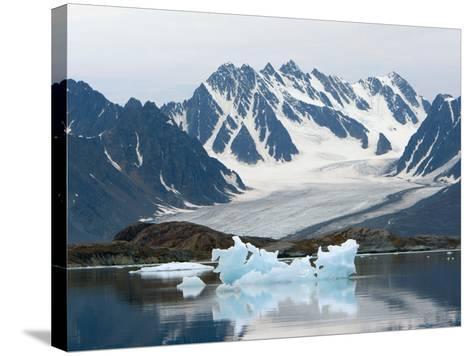 Receding Glacier, Liefderfjorden Fiord, Svalbard, Norway-Alice Garland-Stretched Canvas Print