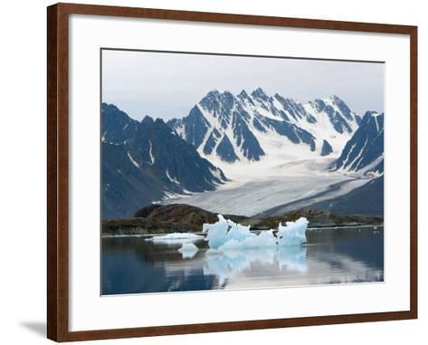 Receding Glacier, Liefderfjorden Fiord, Svalbard, Norway-Alice Garland-Framed Art Print