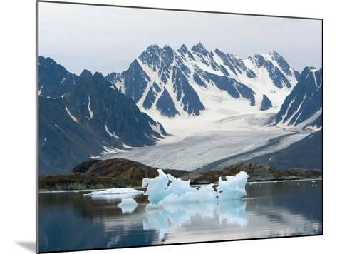 Receding Glacier, Liefderfjorden Fiord, Svalbard, Norway-Alice Garland-Mounted Photographic Print