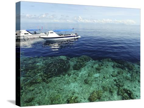 Diving Boat, Sipadan, Semporna Archipelago, Borneo, Malaysia-Anthony Asael-Stretched Canvas Print