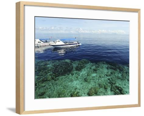 Diving Boat, Sipadan, Semporna Archipelago, Borneo, Malaysia-Anthony Asael-Framed Art Print