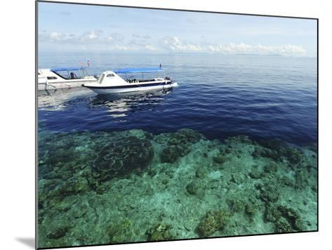 Diving Boat, Sipadan, Semporna Archipelago, Borneo, Malaysia-Anthony Asael-Mounted Photographic Print