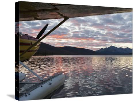 Floatplane, Takahula Lake, Alaska, USA-Hugh Rose-Stretched Canvas Print