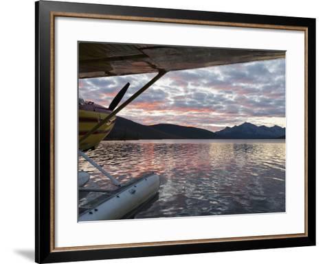 Floatplane, Takahula Lake, Alaska, USA-Hugh Rose-Framed Art Print