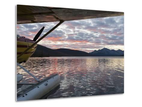 Floatplane, Takahula Lake, Alaska, USA-Hugh Rose-Metal Print