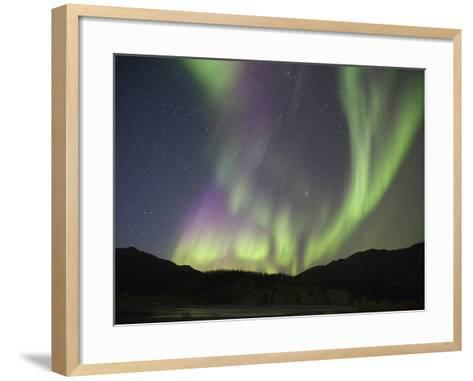 Aurora Borealis, Koyukuk River, Alaska, USA-Hugh Rose-Framed Art Print