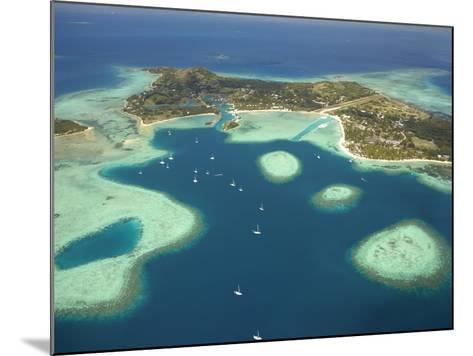 Coral Reef and Malolo Lailai Island, Mamanuca Islands, Fiji-David Wall-Mounted Photographic Print