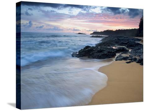 Secret Beach, Kauai, Hawaii, USA-Dennis Flaherty-Stretched Canvas Print