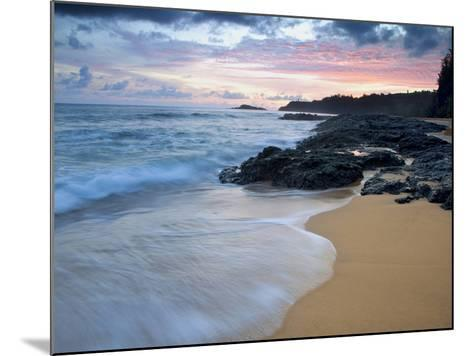 Secret Beach, Kauai, Hawaii, USA-Dennis Flaherty-Mounted Photographic Print