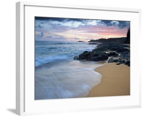 Secret Beach, Kauai, Hawaii, USA-Dennis Flaherty-Framed Art Print
