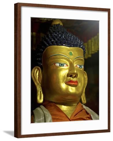 Thikese Monastery, Interior, Ladakh, India-Jaina Mishra-Framed Art Print