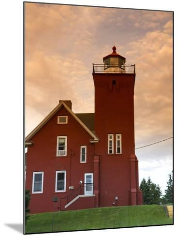 Two Harbors Lighthouse Overlooking Agate Bay, Lake Superior, Two Harbors, Minnesota, USA-David R^ Frazier-Mounted Photographic Print