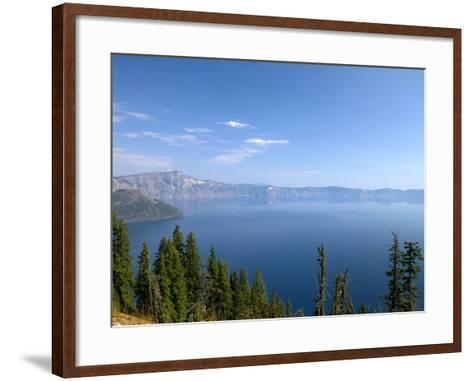 Crater Lake Shrouded in Smoke from Forest Fires, Crater Lake Nat'l Park, Southern Oregon, USA-David R^ Frazier-Framed Art Print
