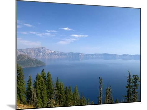 Crater Lake Shrouded in Smoke from Forest Fires, Crater Lake Nat'l Park, Southern Oregon, USA-David R^ Frazier-Mounted Photographic Print