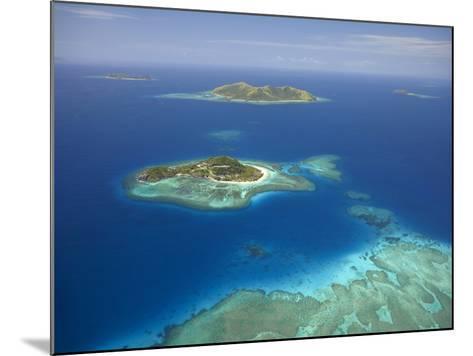 Matamanoa Island and Coral Reef, Mamanuca Islands, Fiji-David Wall-Mounted Photographic Print