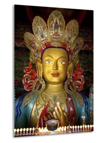 Thikese Monastery, Interior, Ladakh, India-Jaina Mishra-Metal Print
