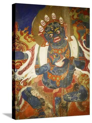 Thikese Monastery, Interior, Ladakh, India-Jaina Mishra-Stretched Canvas Print