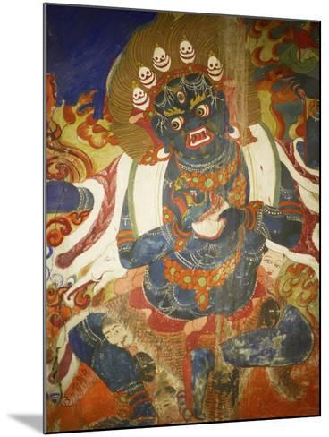 Thikese Monastery, Interior, Ladakh, India-Jaina Mishra-Mounted Photographic Print