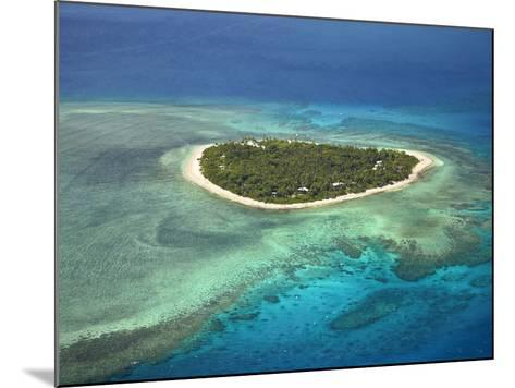 Tavarua Island and Coral Reef, Mamanuca Islands, Fiji-David Wall-Mounted Photographic Print