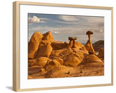 Eroded Rock, Grand Staircase Escalante National Monument, Utah, USA-Cathy & Gordon Illg-Framed Art Print