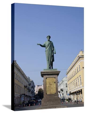 Statue of Duke De Richelieu, Odessa, Ukraine-Cindy Miller Hopkins-Stretched Canvas Print