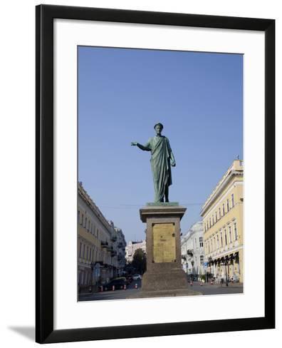 Statue of Duke De Richelieu, Odessa, Ukraine-Cindy Miller Hopkins-Framed Art Print