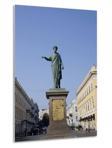 Statue of Duke De Richelieu, Odessa, Ukraine-Cindy Miller Hopkins-Metal Print