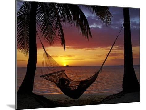 Hammock and Sunset, Plantation Island Resort, Malolo Lailai Island, Mamanuca Islands, Fiji-David Wall-Mounted Photographic Print