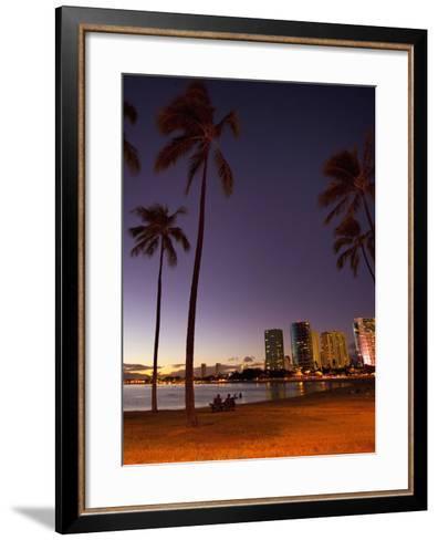Ala Moana Beach Park, Waikiki, Honolulu, Oahu, Hawaii, USA-Douglas Peebles-Framed Art Print